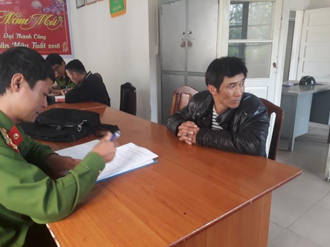 Trần Minh Khánh tại Cơ quan điều tra.