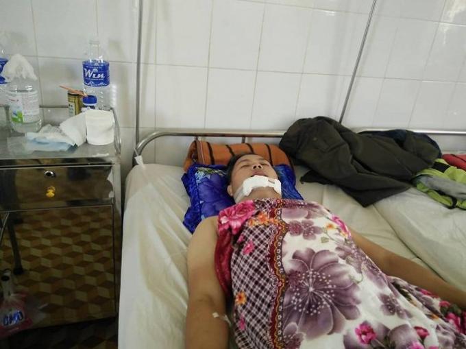 Anh Trung đang được điều trị tại bệnh viện.