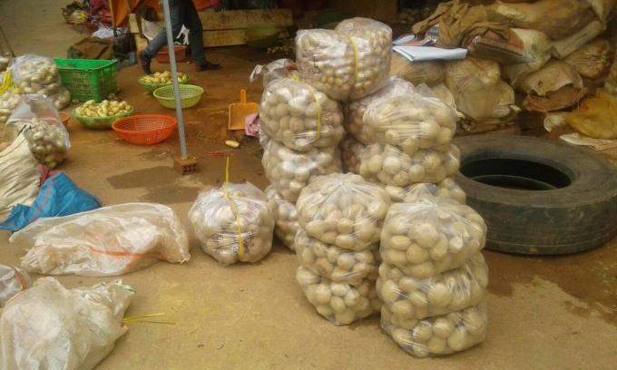 Khoai tây tại chợ nông sản Đà Lạt.