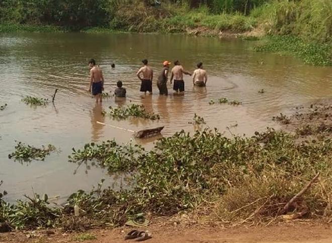 Nơi phát hiện 3 nạn nhân bị đuối nước.