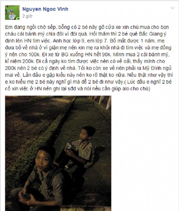 Câu chuyện được chia sẻ chiều 11/11. Nguồn: Nguyen Ngoc Vinh/www.otofun.net