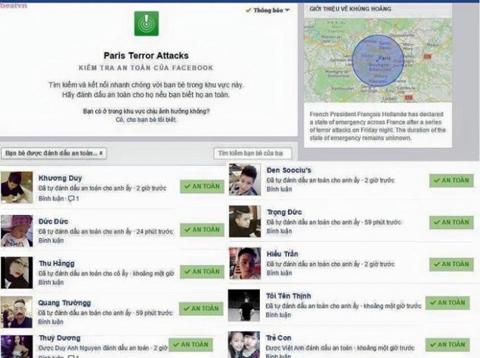 Tính năng thông báo an toàn trên Facebook cho bạn bè trên mạng xã hội này biết chủ nhân của thông báo không bị nguy hiểm.