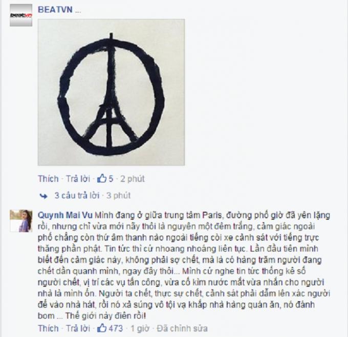 Bình luận của Facebooker Quynh Mai Vu thu hút rất nhiều quan tâm, chia sẻ của cư dân mạng. Nguồn: BEATVN