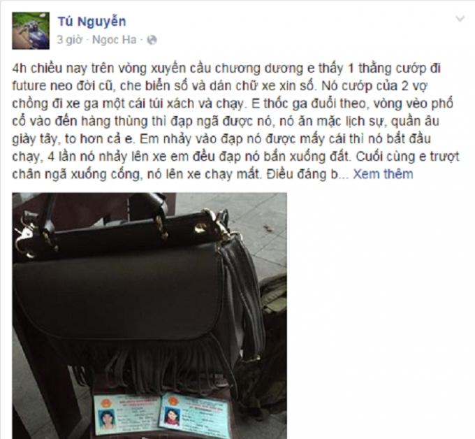 Câu chuyện được Facebooker Tú Nguyễn chia sẻ đã khiến cộng đồng mạng chú ý đặc biệt.