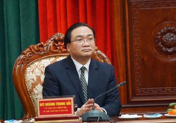 Tân Bí thư Thành ủy Hà Nội Hoàng Trung Hải.