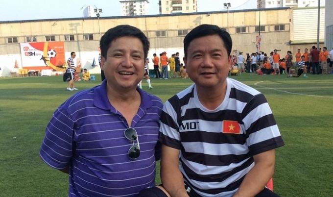 Nghệ sỹ Chí Trung và Bí thư Thành ủy TPHCM Đinh La Thăng.