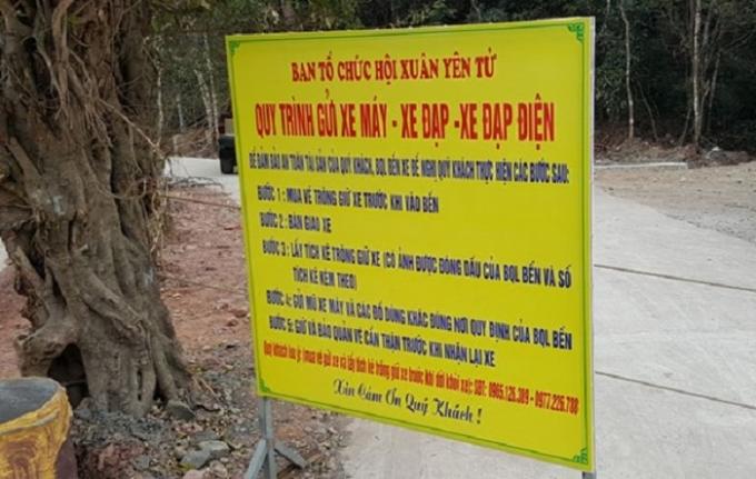 Xe điện không đăng ký, đăng kiểm vẫn liều chở khách ở Yên Tử