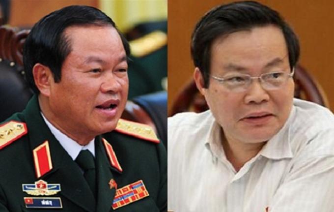 Hai tân Phó Chủ tịch Quốc hội, Đỗ Bá Tỵ (trái) và Phùng Quốc Hiển.