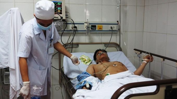 Các nạn nhân được điều trị tại BVĐK 115 Nghệ An.