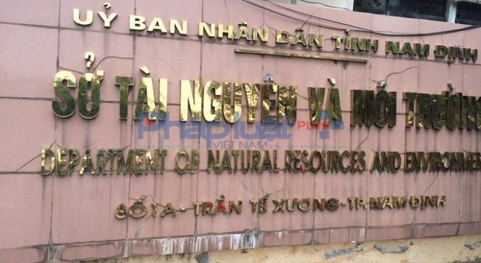Trụ sở Sở TN&MT tỉnh Nam Định.