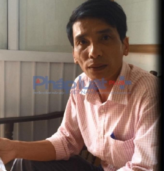 Ông Đỗ Đức Nam - Phó chủ tịch UBND xã Thụy Trường trong buổi làm việc với phóng viên Pháp Luật Plus.