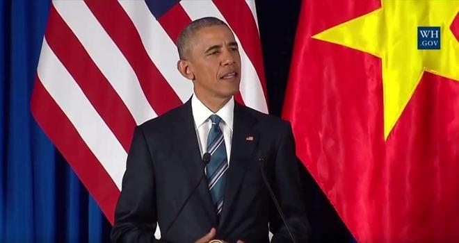 Tổng thống Obama phát biểu tại buổi họp báo. (Ảnh: Reuters).