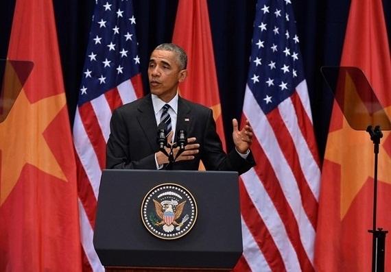 Tổng thống Obama phát biểu trước 2000 người Việt.