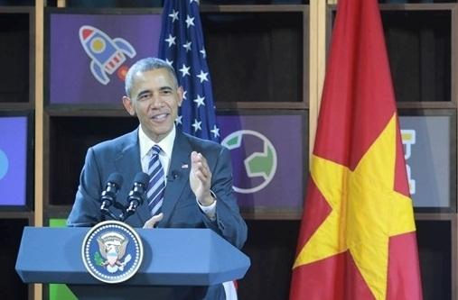 Tổng thống Obama phát biểu trong cuộc gặp gỡ.