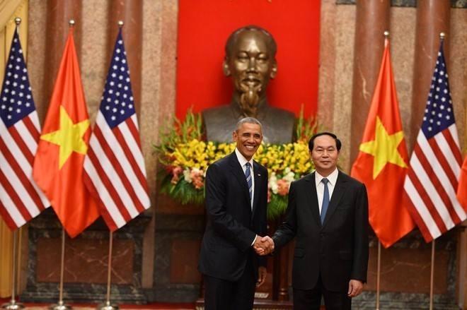 Chủ tịch nước Việt Nam Trần Đại Quang và Tổng thống Mỹ Barack Obama.