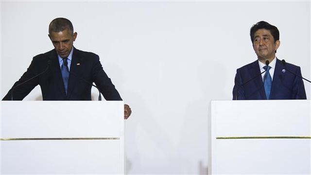 Ông Obama gửi lời xin lỗi Nhật Bản trong cuộc họp báo chung giữa 2 nước. (Ảnh: AFP)