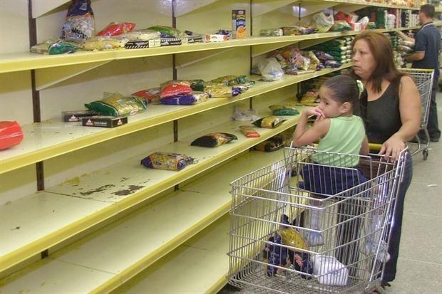 """Nhiều siêu thị ở Venezuela luôn trong tình trạng """"cháy"""" hàng. (Ảnh:Archivo)."""