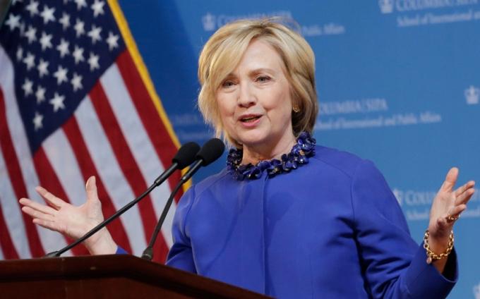 Bà Hillary Cliton. (Ảnh: AP)