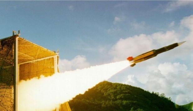 Tên lửa chống hạm siêu âm Hsiung Feng III của Đài Loan. (Ảnh: SCMP)