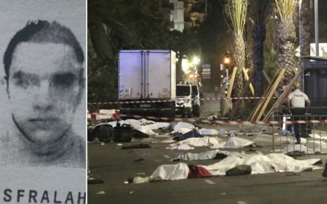 Chân dung nghi phạmLahouaiej-Bouhlel trong vụ tấn công bằng xe tải ở Nice, Pháp. (Ảnh: Telegraph).
