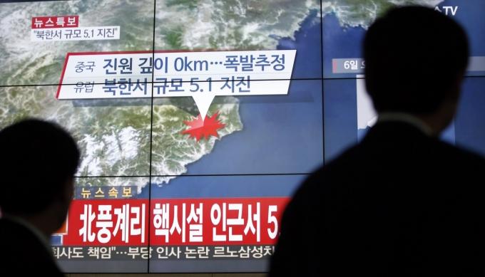 Ảnh vệ tinh địa điểm mà Triêu Tiên vừa bị nghi tiến hành vụ thử hạt nhân lần thứ 5. (Ảnh: USA Today)