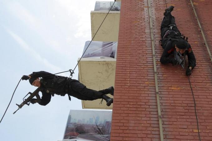 Diễn tập chống khủng bố. (Ảnh: Reuters)