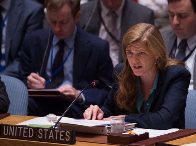 Đại sứ Mỹ tại Liên Hợp Quốc Samantha Power. (Ảnh: AFP)