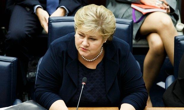 Thủ tướng Na Uy Erna Solberg. (Ảnh:EPA).