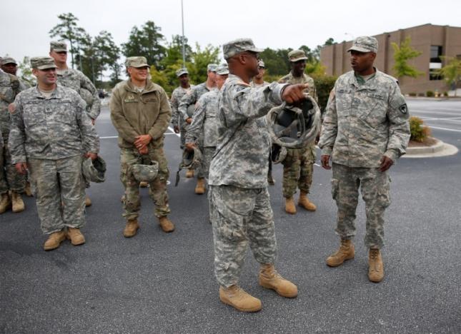 Lực lượng vệ binh Mỹ sẵn sàng triển khai công tác cứu hộ, cứu nạn khi bão Matthew đổ bộ. (Ảnh: Reuters)