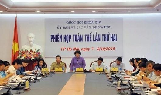 Phiên họp toàn thể lần thứ 2 của Ủy ban Các vấn đề xã hội của Quốc hội.