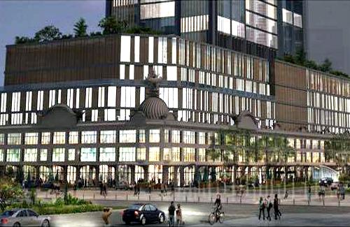 Phối cảnh tòa nhà thương xá Tax mới với 40 tầng. (Ảnh:Satra)