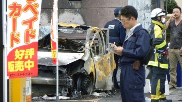 Đài truyền hình NHK cho biết hiện giới chức Nhật đang điều tra liệu hai vụ nổ có liên quan tới nhau hay không nhưng từ chối cung cấp thông tin chi tiết. (Ảnh:AFP)