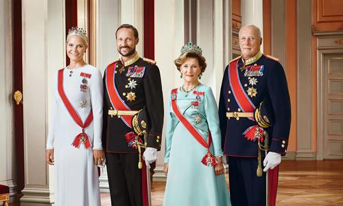 Các thành viên Hoàng gia Na Uy. (Ảnh:NRP)