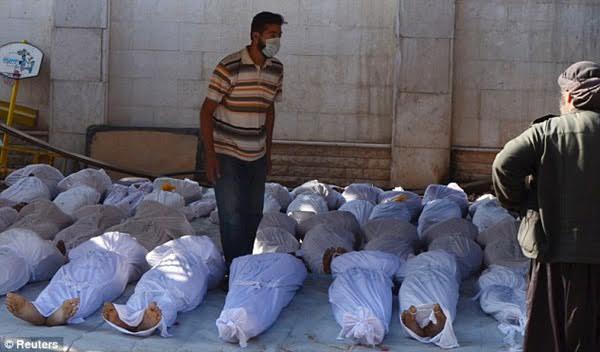 Gần 100 người thiệt mạng, bao gồm cả 11 đứa trẻ vô tội cùng hàng trăm người khác bị thương sau cuộc tấn công hóa học tại Syria.