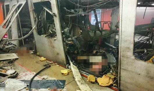 Hiện trường vụ đánh bom xảy ra ở St Petersburg.