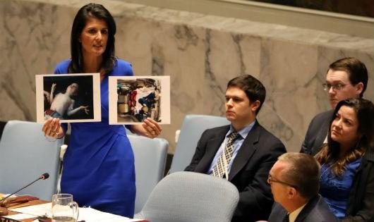 Đại sứ Mỹ tại Liên Hợp Quốc (LHQ) Nikki Haley.
