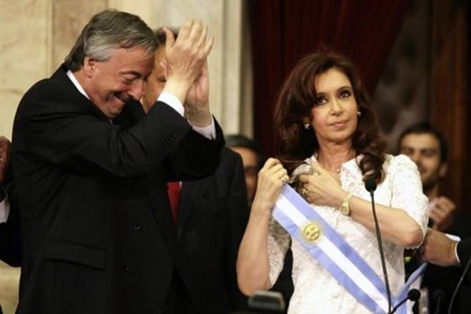 Vợ chồng Tổng thống Cristina Fernandez.