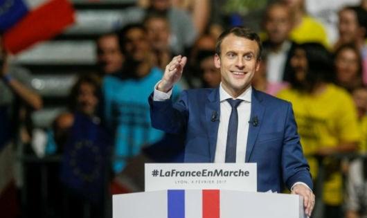 Tân tổng thống Pháp Emmanuel Macron.