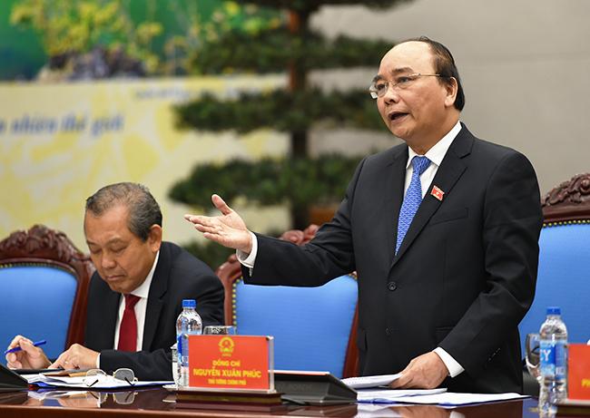 Thủ tướng Nguyễn Xuân Phúc yêu cầu cải cách hành chính, xây dựng Chính phủ. (Ảnh: Daubao)