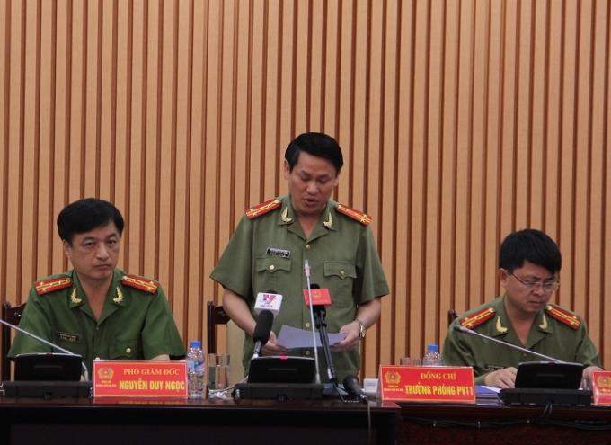Đại tá Nguyễn Văn Viện - Trưởng phòng tham mưu Công an TP. Hà Nội thông tin về vụ việc.