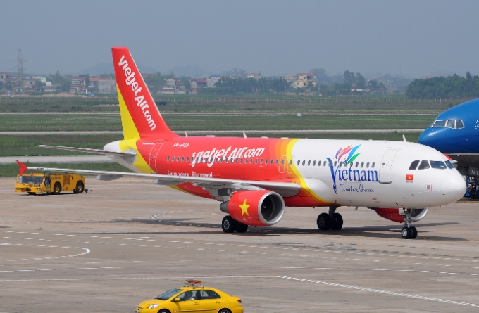 Chuyến bay VJ286 của hãng hàng không Vietjet sau đó đã bị hủy, hoãn sang ngày hôm sau (Ảnh minh họa).