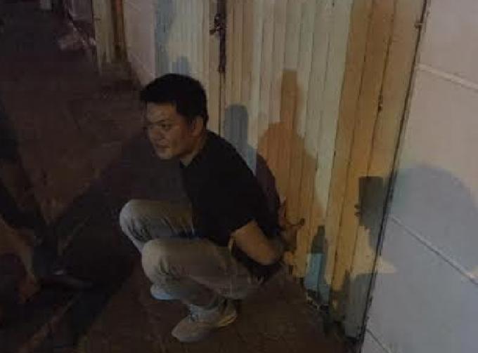 Đối tượng Nguyễn Tiến Dương khi bị bắt.