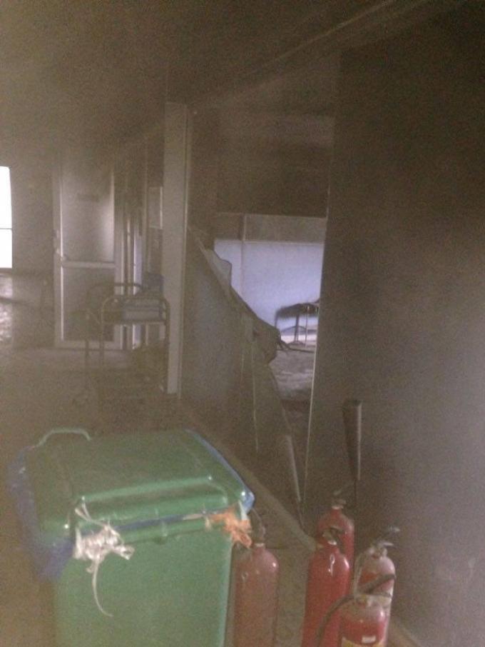 Bên trong ngôi nhà xảy ra vụ cháy.