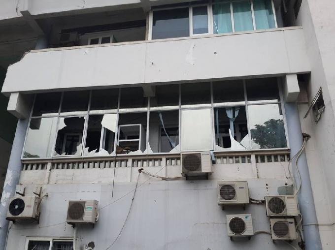Hiện trường tầng 2 của ngôi nhà, nơi ngọn lửa bùng phát.