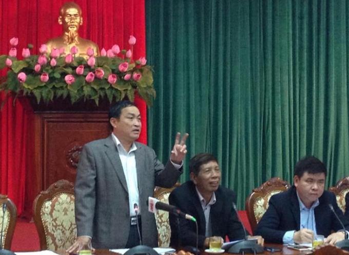 Lạnh đạo sở Lao động Thương binh Xã hội Hà Nội thông tin tại buổi giao ban báo chí.