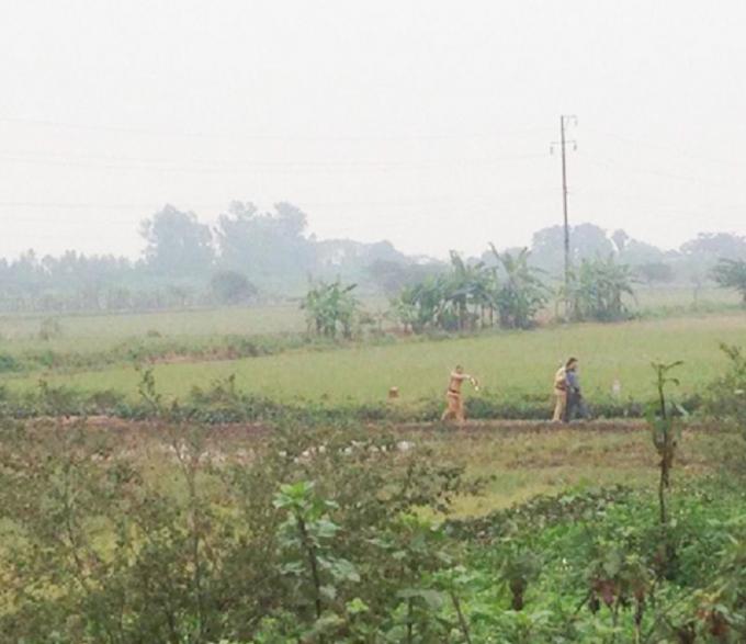 Lực lượng CSGT tóm gọn tên cướp khi đối tượng có tình tẩu thoát.