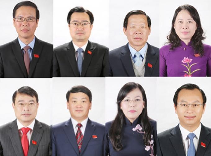 Các ủy viên Trung ương thế hệ 7X.