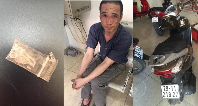Nguyễn Thanh Long cùng tang vật bị lực lượng 141 thu giữ.