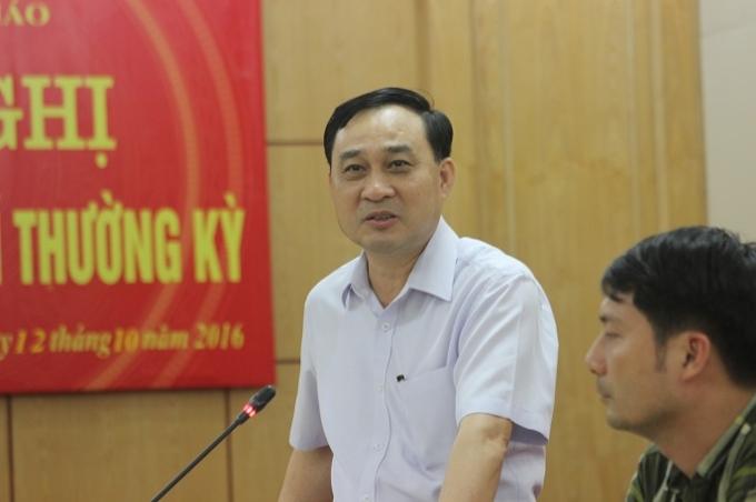 Ông Phạm Văn Thể thông tin về dự án.