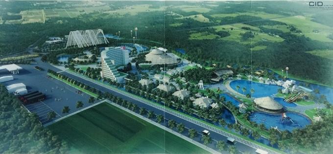Bản vẽ quy hoạch tổng mặt bằng và phối cảnh dự án khu dừng nghỉ và giới thiệu sản phẩm du lịch Quảng Ninh.